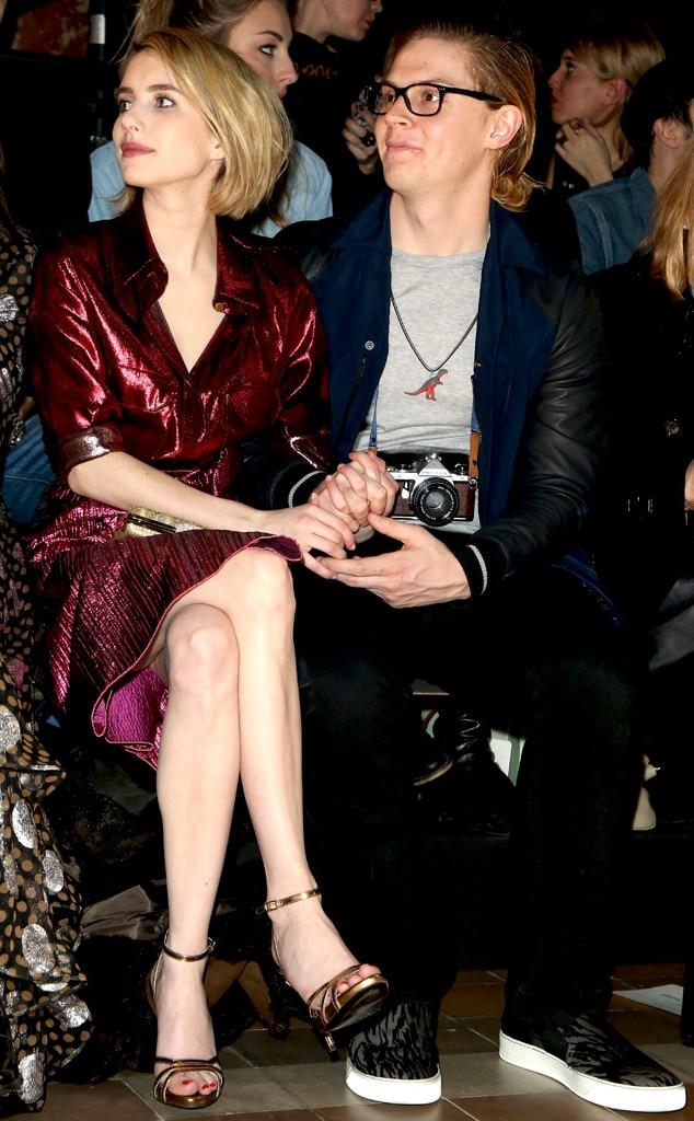 Emma Roberts, Evan Peters, Paris Fashion Week, Lanvin