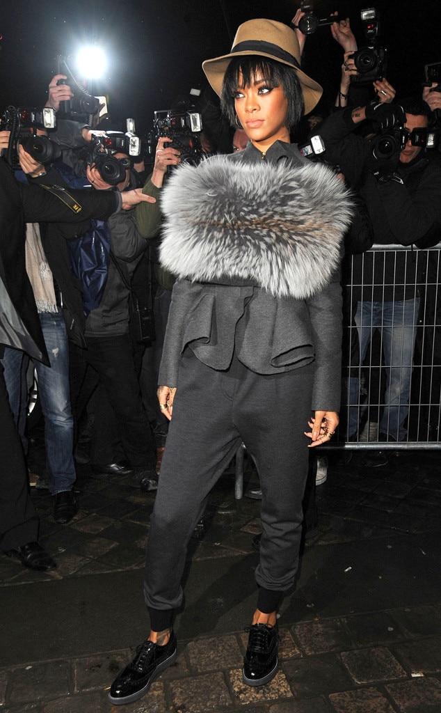 Rihanna, Lanvin, Paris Fashion Week