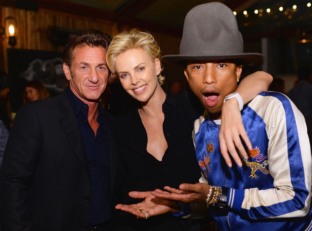 Sean Penn, Charlize Theron, Pharrell Williams