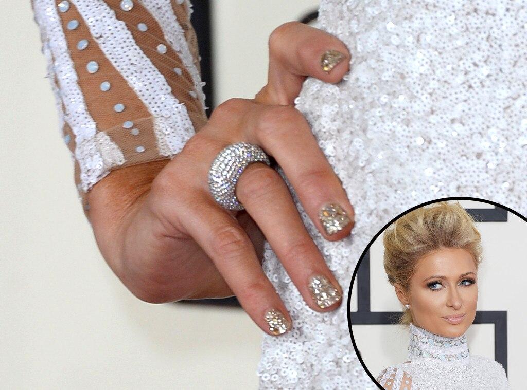 Paris Hilton, Grammys, Manicure