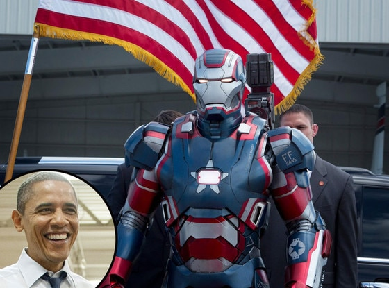 Iron Man 3, Barack Obama