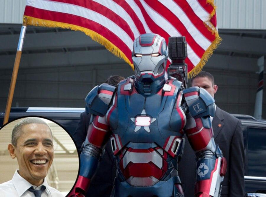 Iron Man 3, Barack Obama