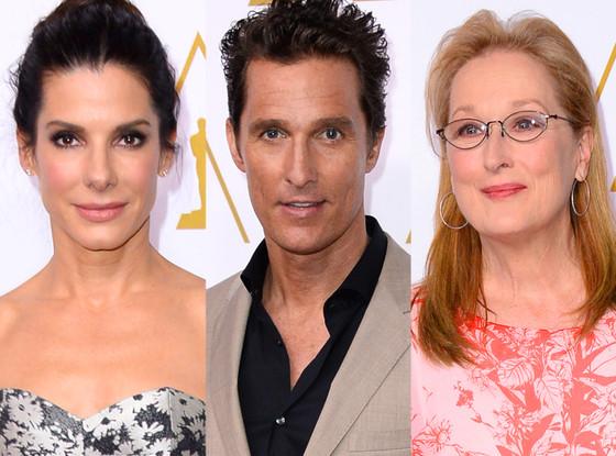 Sandra Bullock, Matthew McConaughey, Meryl Streep