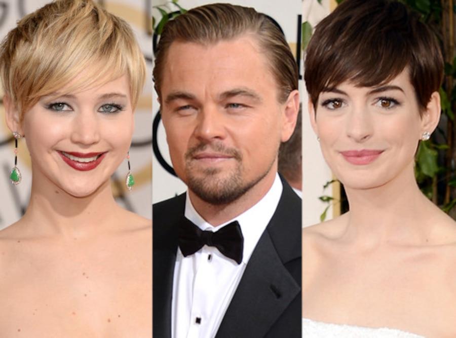 Jennifer Lawrence, Leonardo DiCaprio, Anne Hathaway