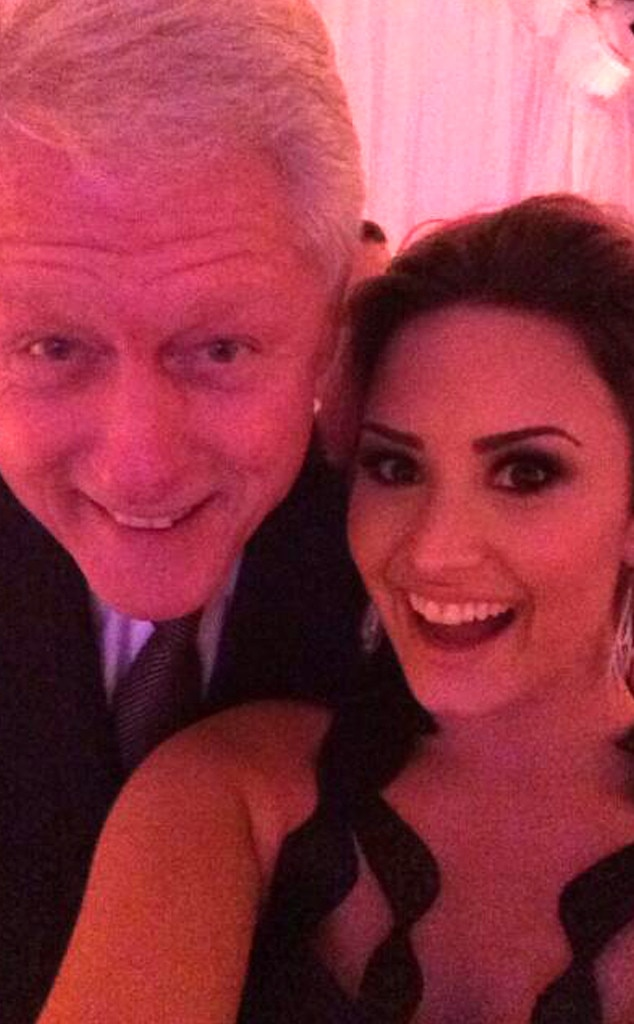 Demi Lovato, Bill Clinton, Twitter