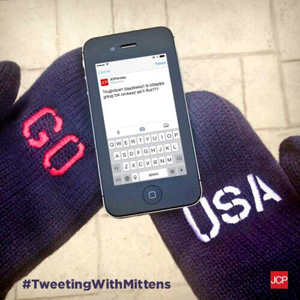 JC Penny, Tweeting with Mittens