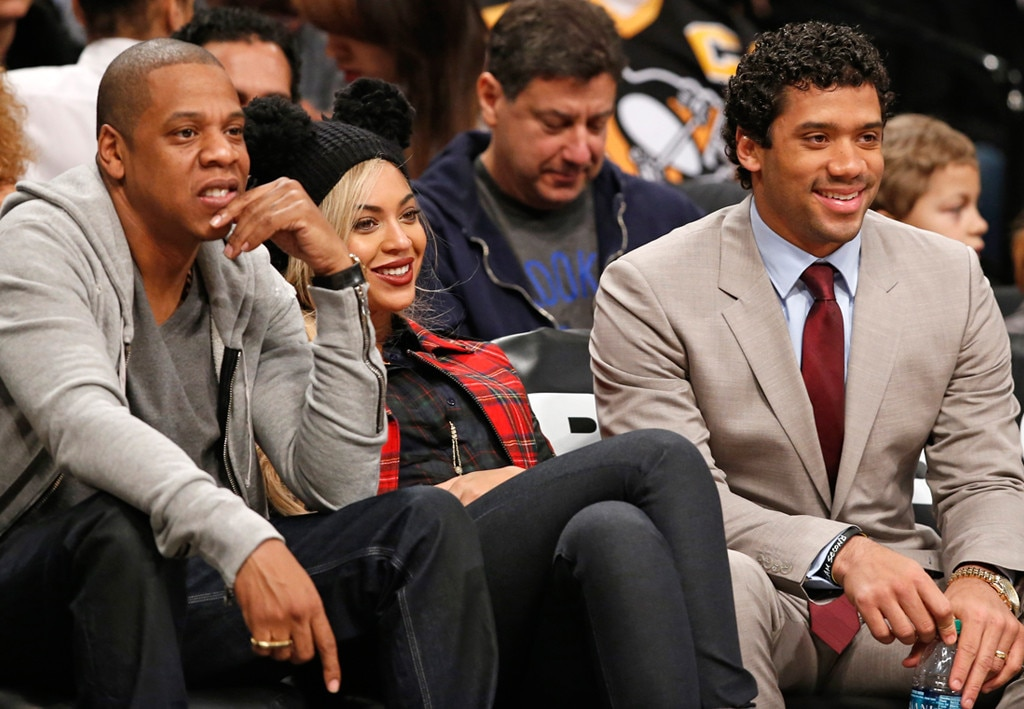 Jay-Z, Beyonce, Russell Wilson