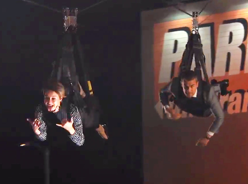 Shailene Woodley, Theo James, Jimmy Kimmel