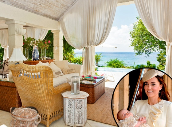 Prince George, Kate Middleton, Mustique Rosina Villa