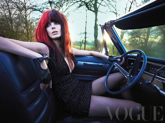 Daria Werbowy, styled by Kate Moss, British Vogue