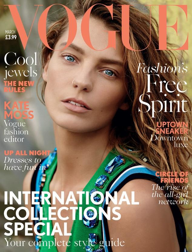 Daria Werbowy, British Vogue Cover