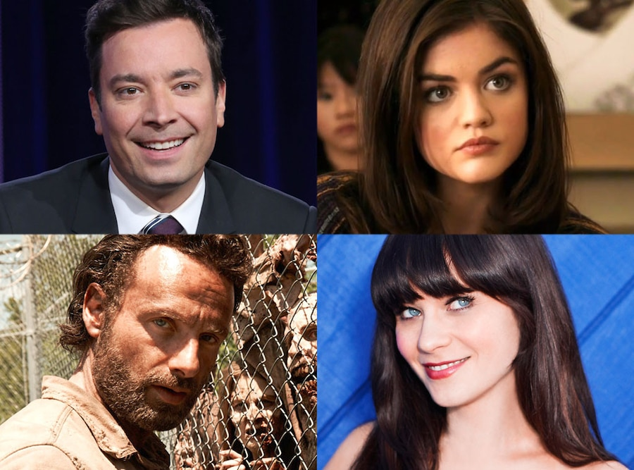 Jimmy Fallon, Lucy Hale, Andrew Lincoln, Zooey Deschanel