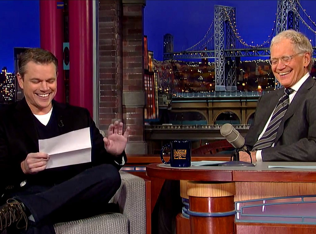 Matt Damon, Letterman