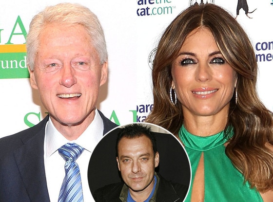 Bill Clinton, Elizabeth Hurley, Tom Sizemore