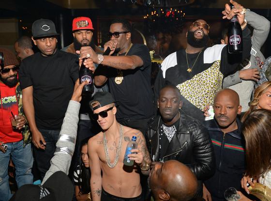 Jermain Dupri, Alex Gidewon, Satlley, Justin Bieber, Sean 'Diddy' Combs, Rick Ross