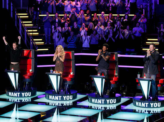 Adam Levine, Shakira, Usher, Blake Shelton, The Voice