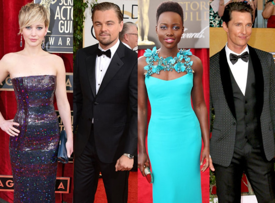 Jennifer Lawrence, Lupita Nyong'o, Matthew McConaughey, Leonardo DiCaprio
