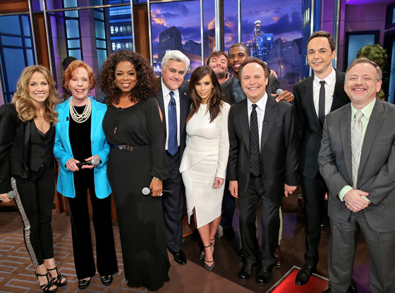 Sheryl Crow, Carol Burnett, Oprah Winfrey, host Jay Leno, Kim Kardashian, Jack Black, Chris Paul, Billy Crystal, Jim Parsons