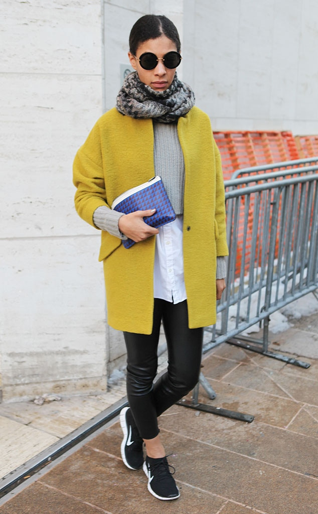 Claire millar from new york fashion week fall 2014 street style e news New york fashion week street style fall 2014