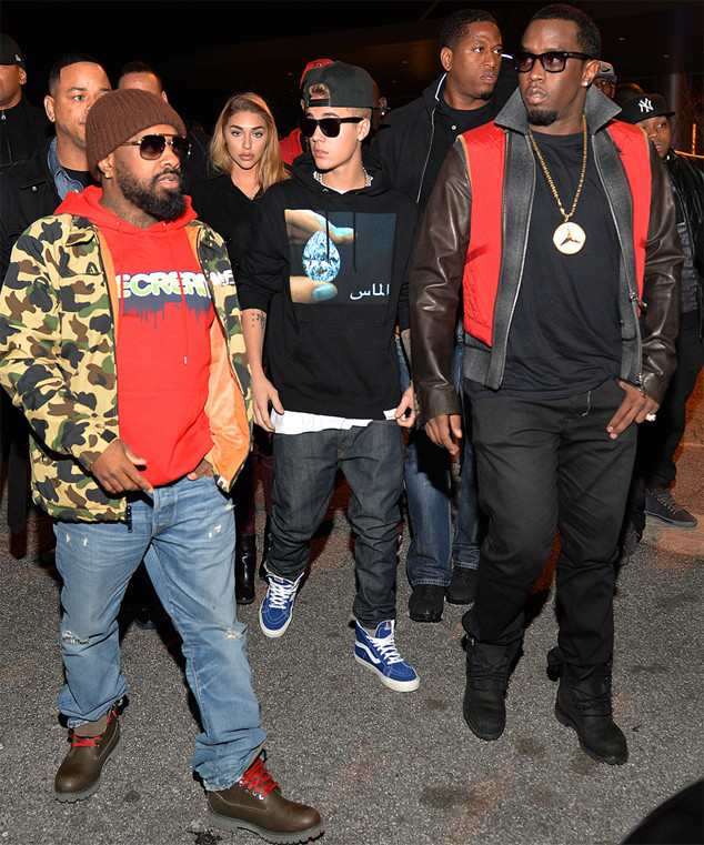 Jermain Dupri, Chantel Jeffries, Justin Bieber, Sean 'Diddy' Combs