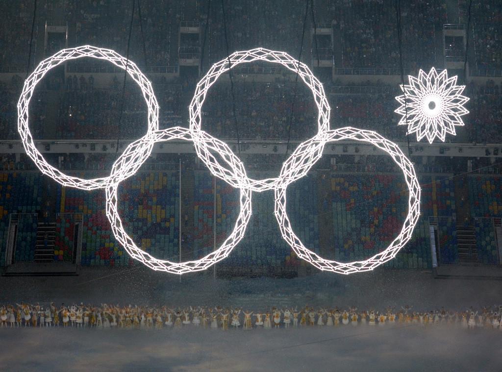 Olympic Ring Malfunction, Snowflake, Sochi Opening Ceremony