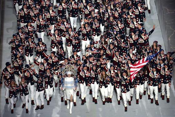 Team USA, Todd Lodwick, Sochi Opening Ceremony