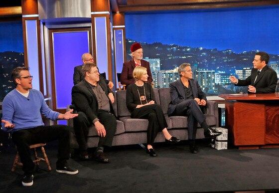 Jimmy Kimmel Live, The Monuments Men Cast