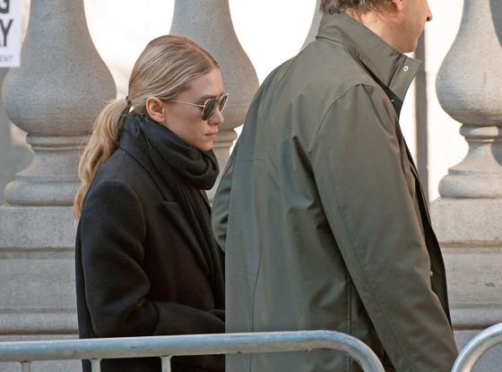 Ashley Olsen, Philip Seymour Hoffman Funeral