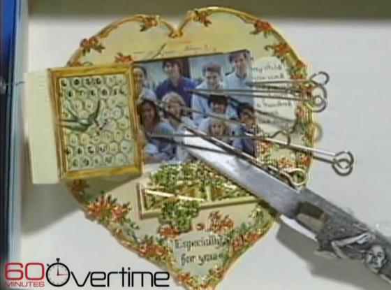 Mia Farrow, Woody Allen, Valentines Day card