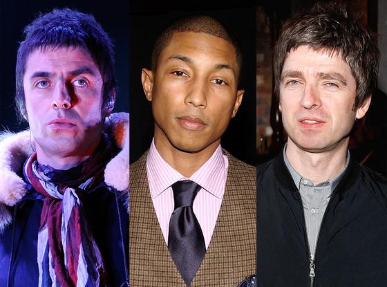 Liam Gallagher, Noel Gallagher, Pharrell Williams