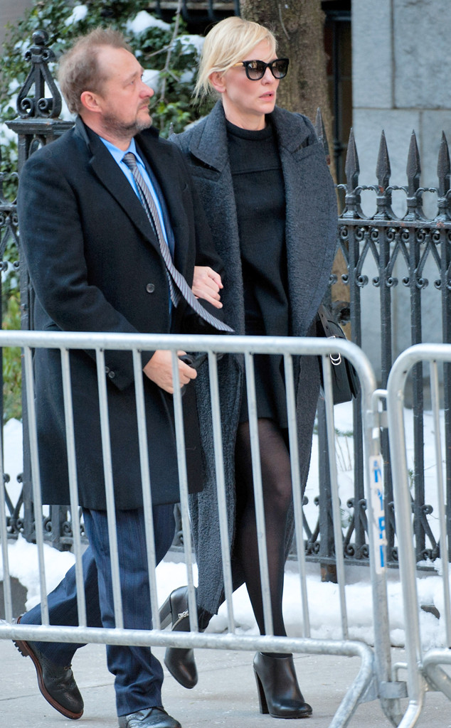 Cate Blanchett, Philip Seymour Hoffman Funeral