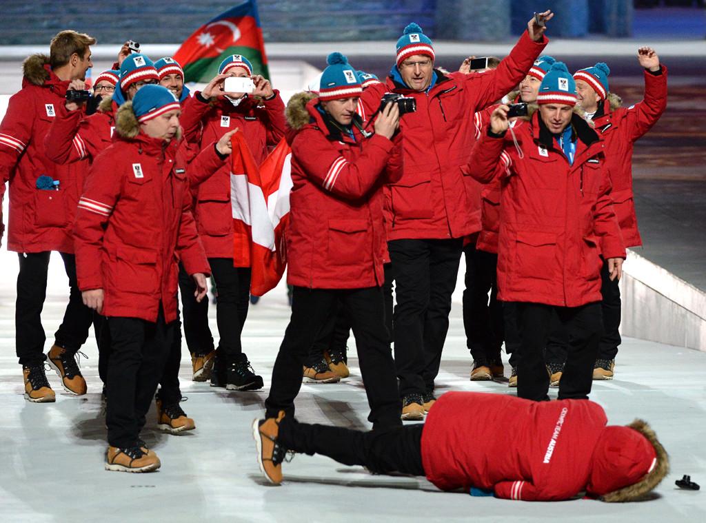 Austria Olympic Team, Falling, Olympics, Sochi