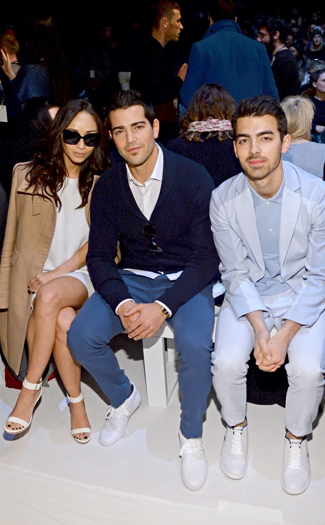 Cara Santana, Jesse Metcalfe and Joe Jonas, NYFW, Front Row