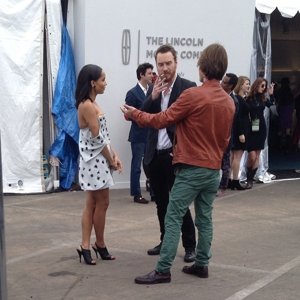 Michael Fassbender, Zoe Kravitz, Instagram