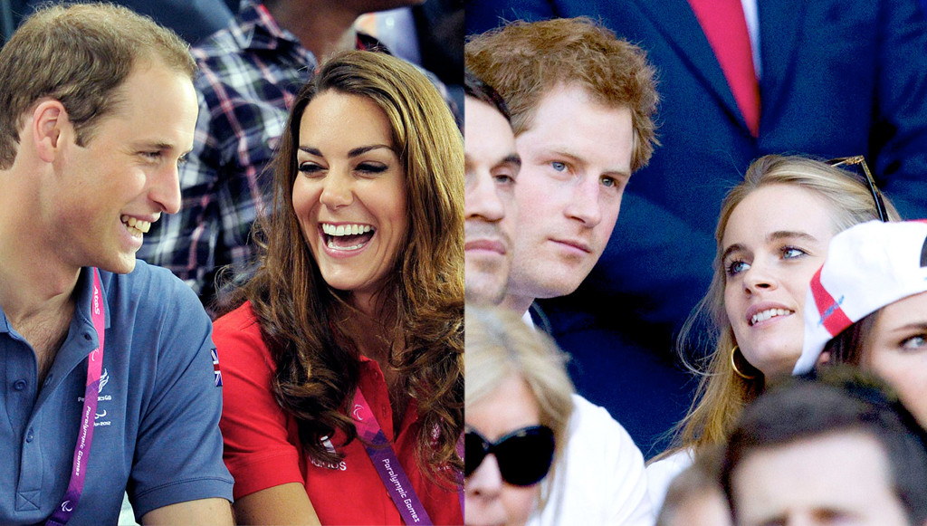Prince William, Kate Middleton, Prince Harry, Cressida Bonas