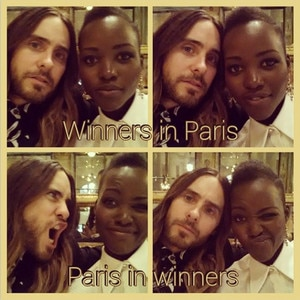 Jared Leto And Lupita Kiss