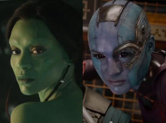 Zoe Saldana, Karen Gillan, Guardians of the Galaxy