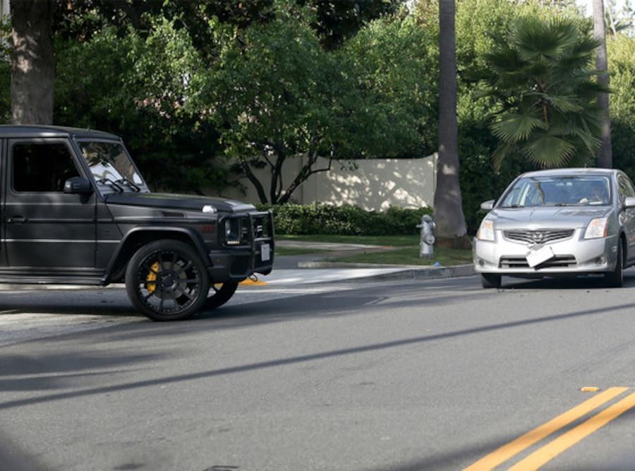 Kim Kardashian, Car Accident