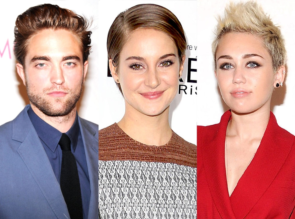 Shailene Woodley, Robert Pattinson, Miley Cyrus