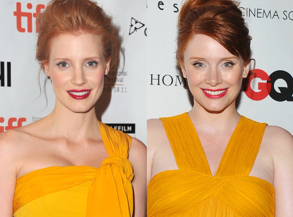 jessica chastain amp bryce dallas howard from celebrity look