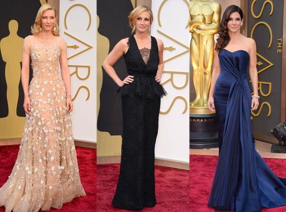 Cate Blanchett, Julia Roberts, Sandra Bullock, Oscars 2014