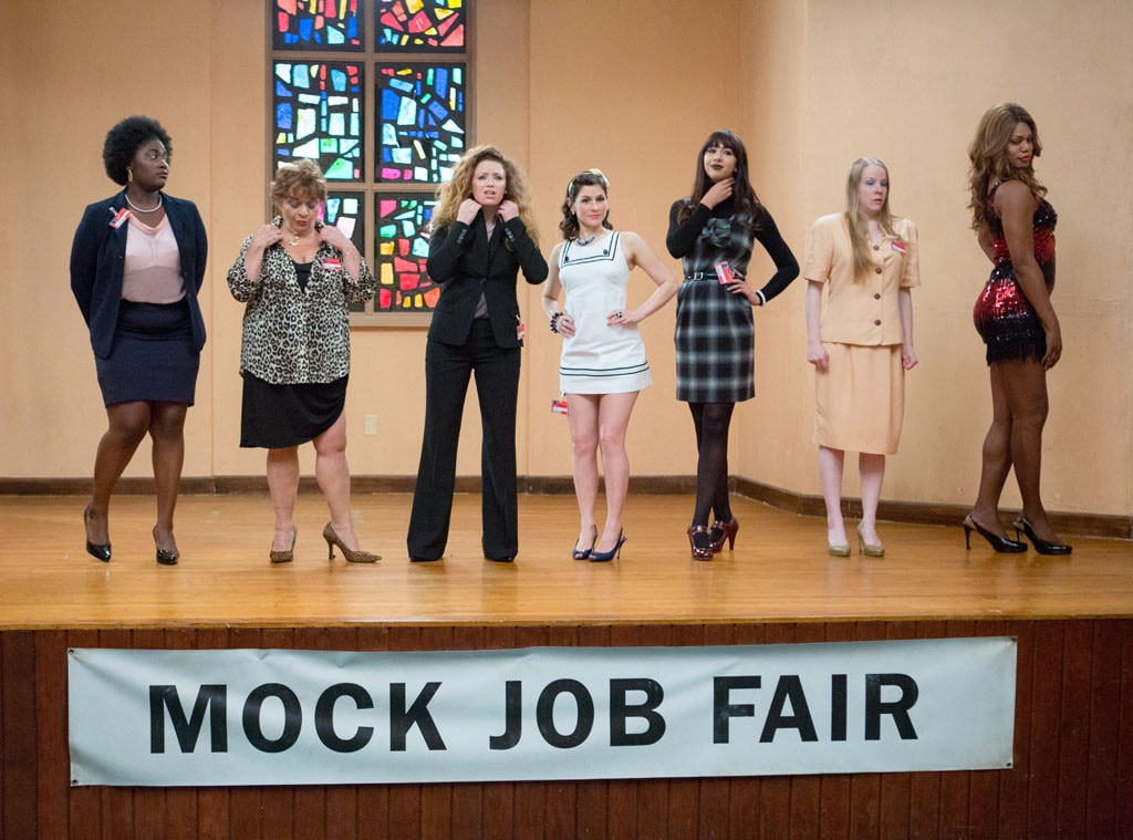 Danielle Brooks, Lin Tucci, Natasha Lyonne, Yael Stone, Jackie Cruz, Emma Myles and Laverne Cox, Orange is The New Black