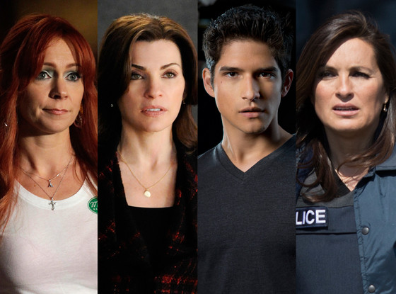 Julianna Margulies, The Good Wife, Carrie Preston, True Blood, Mariska Hargitay, Law & Order, Tyler Posey, Teen Wolf
