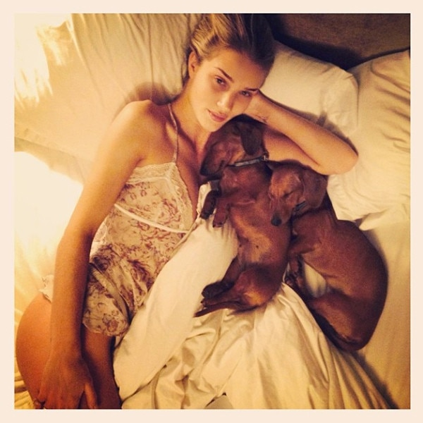 Rosie Huntington Whitley, Instagram