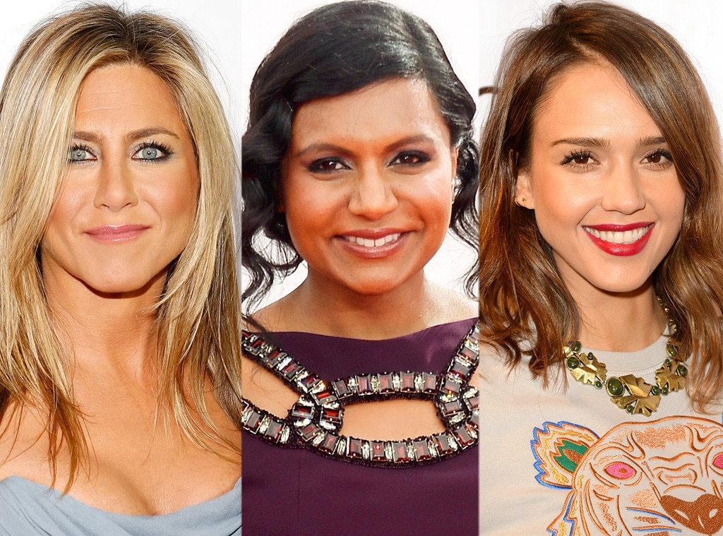 Jennifer Aniston, Mindy Kaling, Jessica Alba
