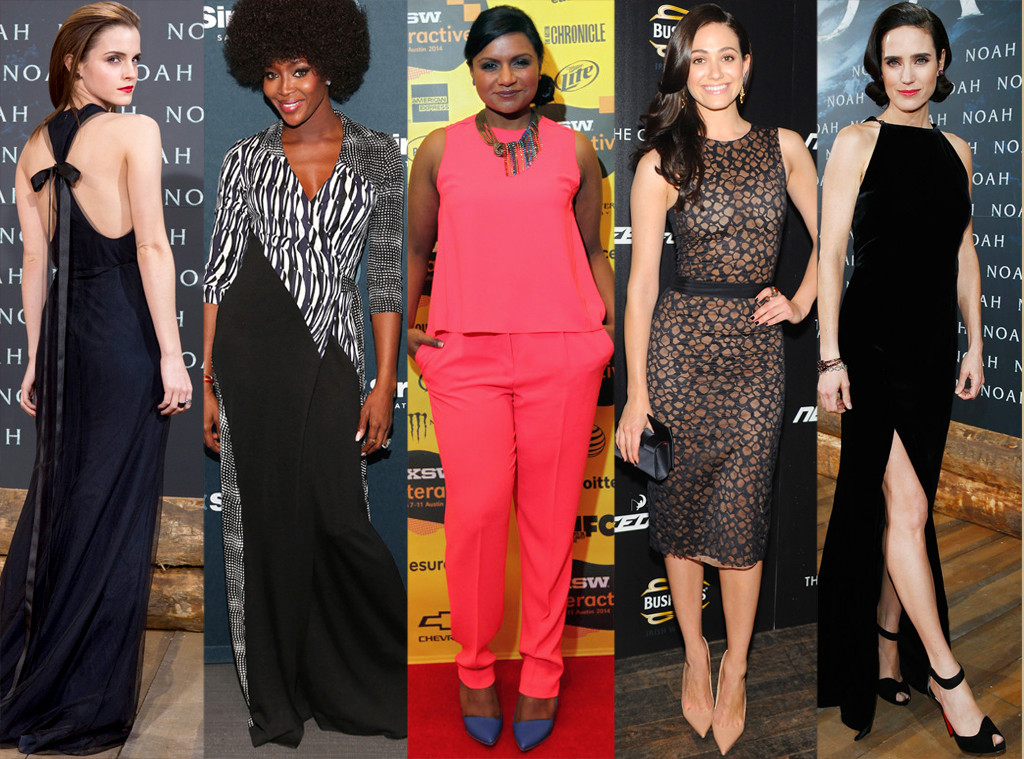 Emma Watson, Naomi Campbell, Mindy Kaling, Emmy Rossum, Jennifer Connelly