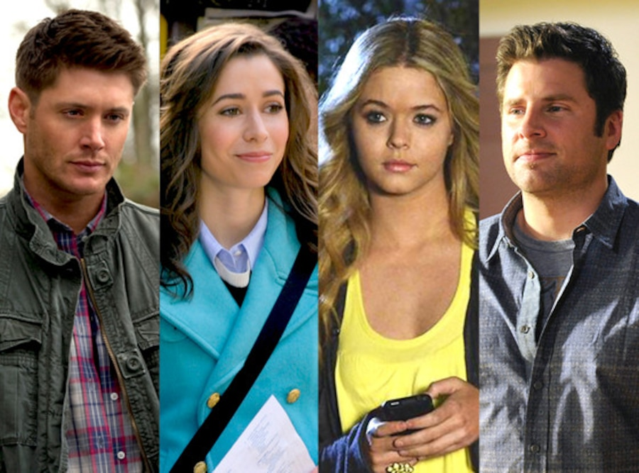 James Roday, Psych, Jensen Ackles, Supernatural, Cristin Milioti, How I Met Your Mother, Sasha Pieterse, Pretty Little Liars