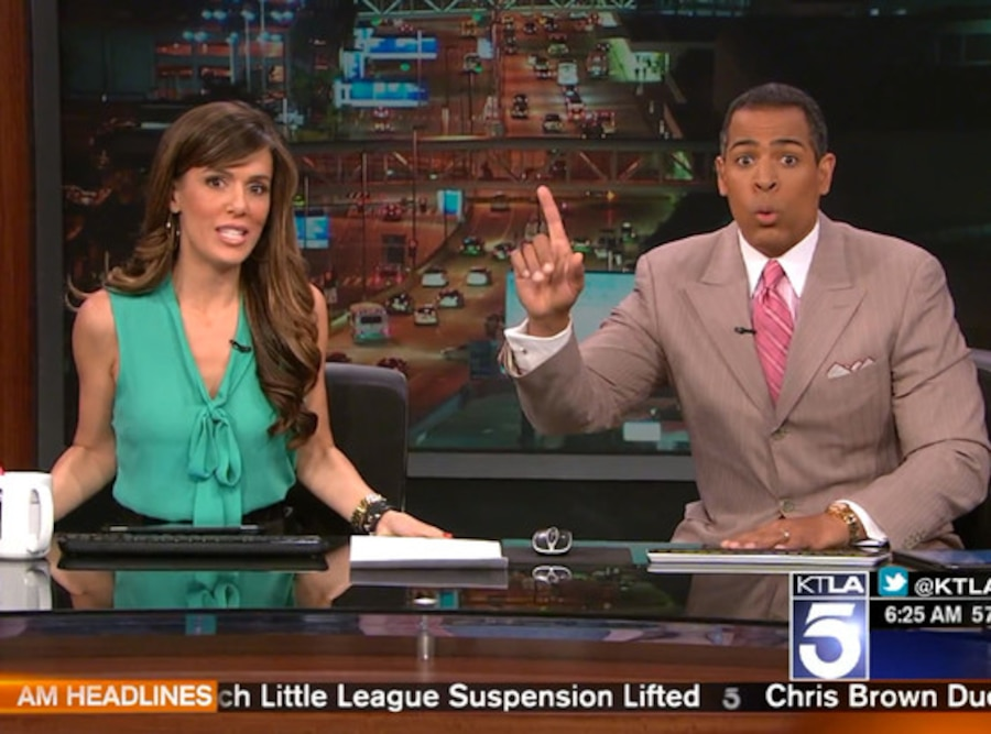 Earthquake, KTLA Chris Schauble, Megan Henderson