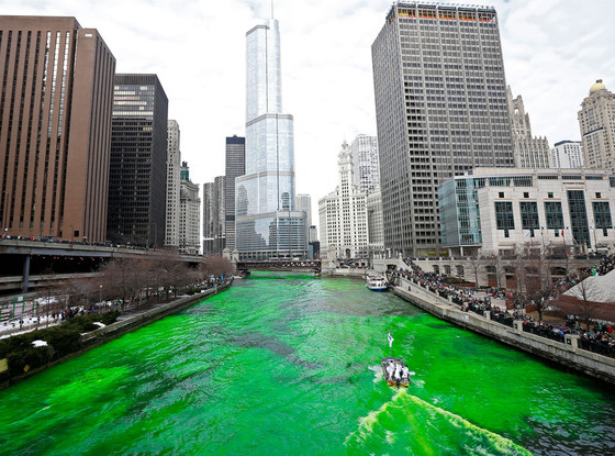 Chicago River, St. Patrick's Day