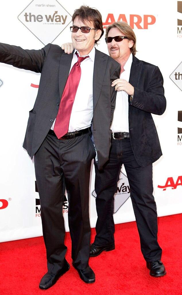 Charlie Sheen, Emilio Estevez